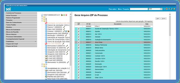 3 operaes bsicas com processos sei sistema eletrnico de o usurio tem a opo de gerar o zip de todo o processo ou selecionar os documentos que deseja converter fandeluxe Image collections